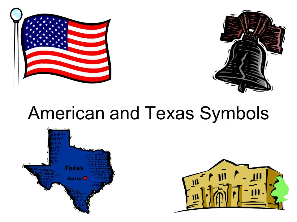 American and Texas Symbols