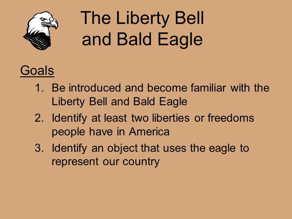 The Liberty Bell and Bald Eagle