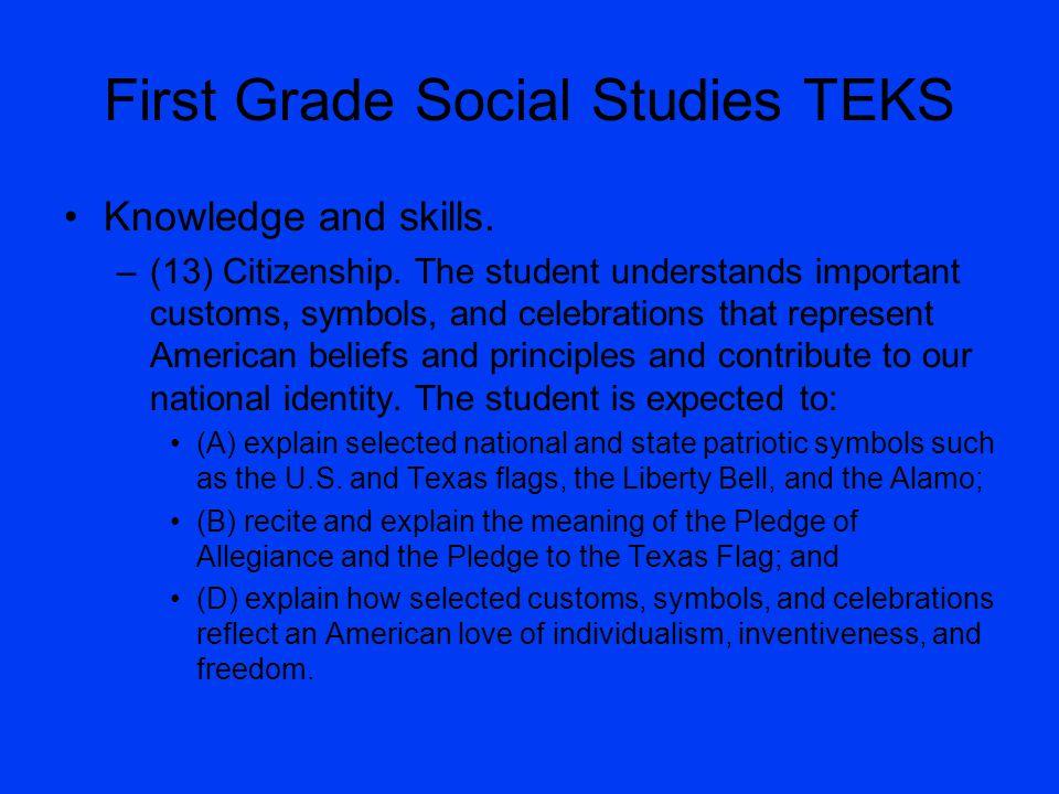 First Grade Social Studies TEKS
