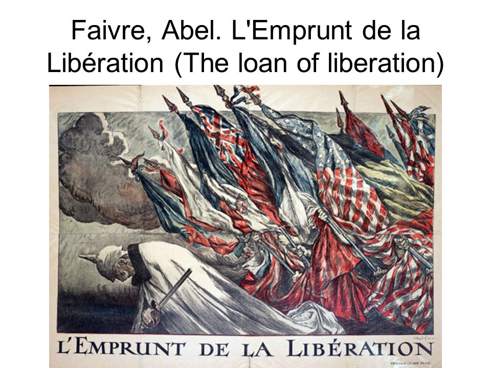 Faivre, Abel. L Emprunt de la Libération (The loan of liberation)