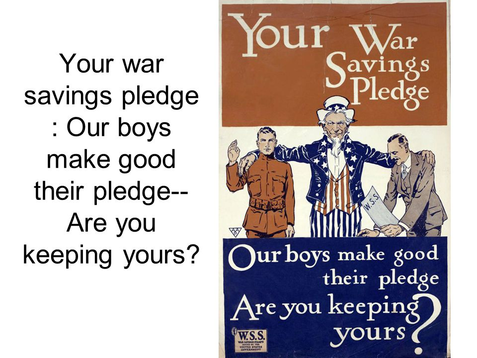 Your war savings pledge : Our boys make good their pledge--Are you keeping yours