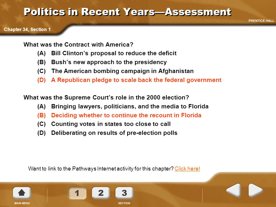 Politics in Recent Years—Assessment