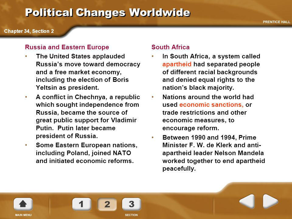 Political Changes Worldwide