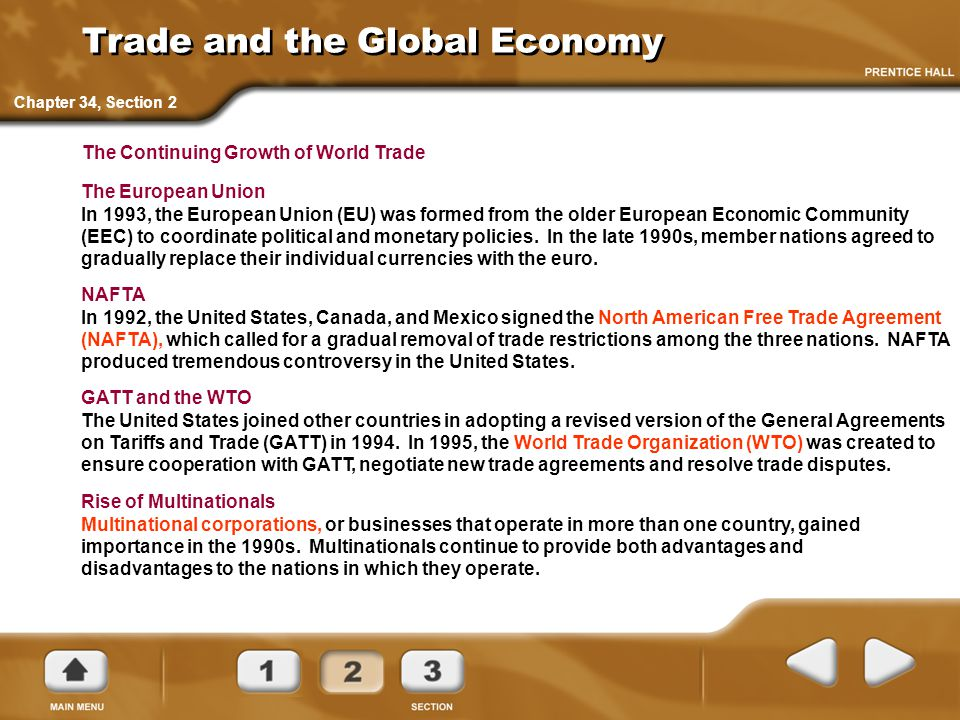 Trade and the Global Economy