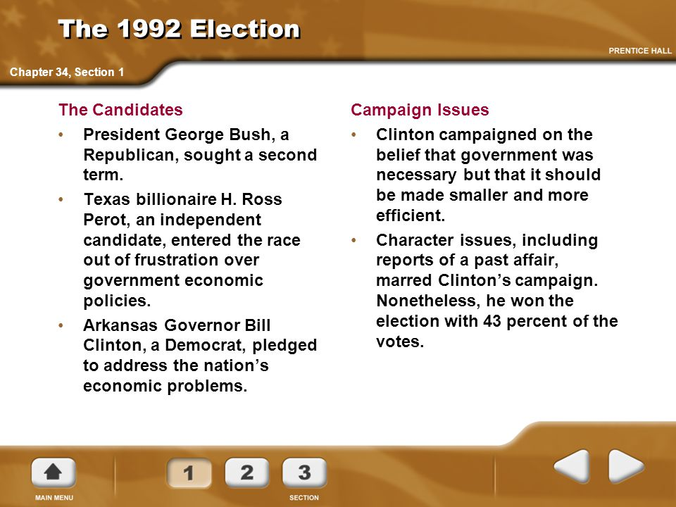 The 1992 Election The Candidates