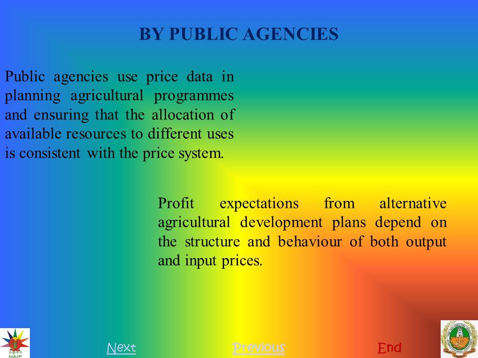 BY PUBLIC AGENCIES