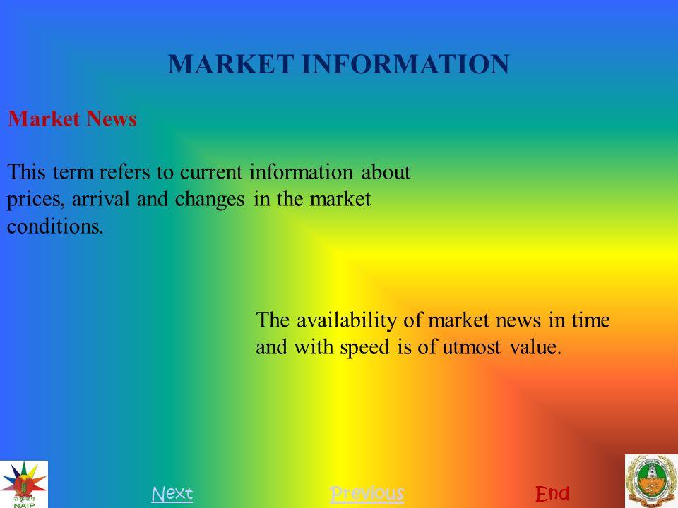 MARKET INFORMATION Market News