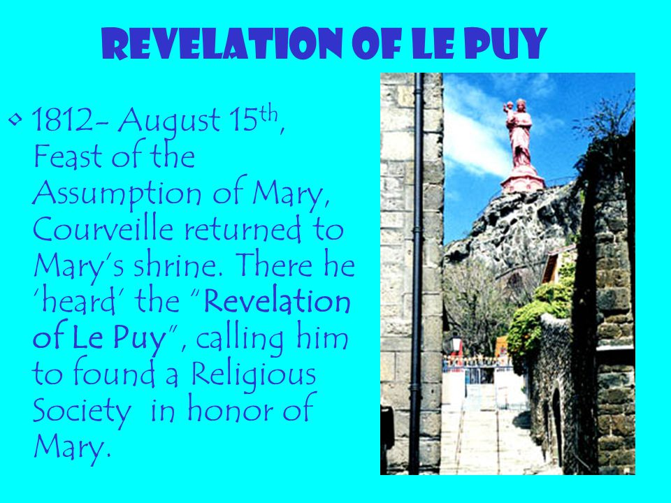 REVELATION OF LE PUY