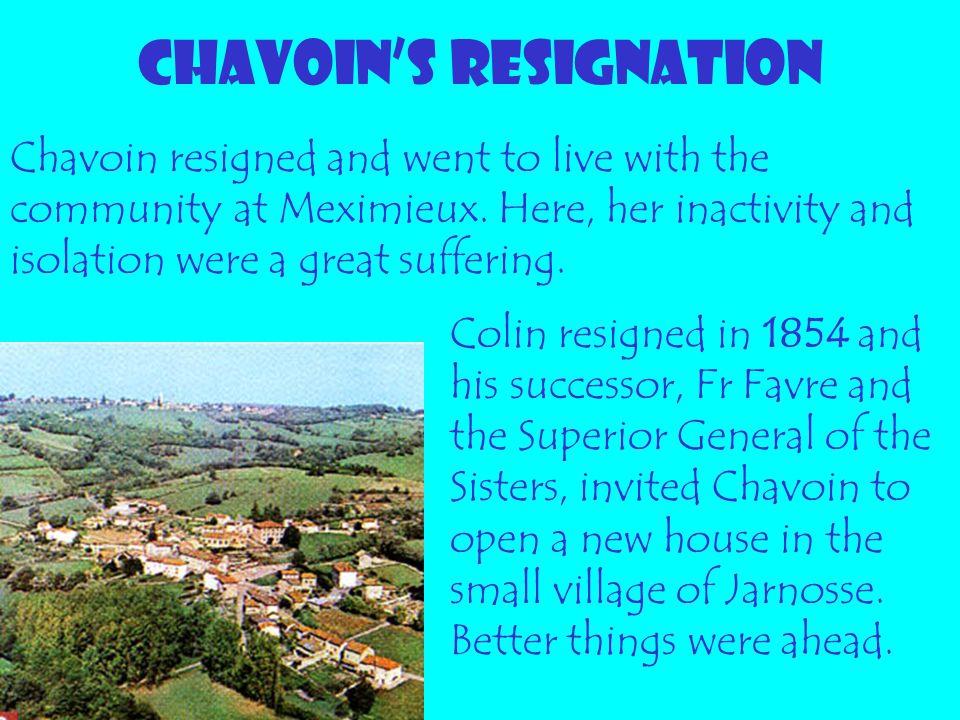 CHAVOIN'S RESIGNATION