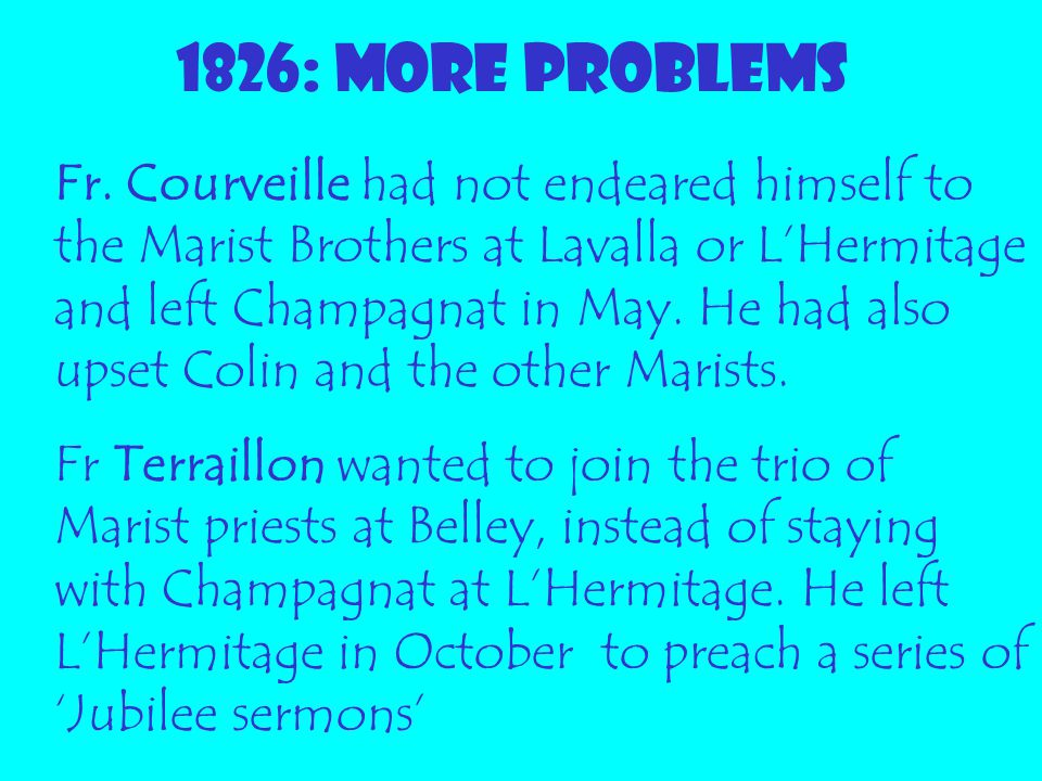 1826: MORE PROBLEMS