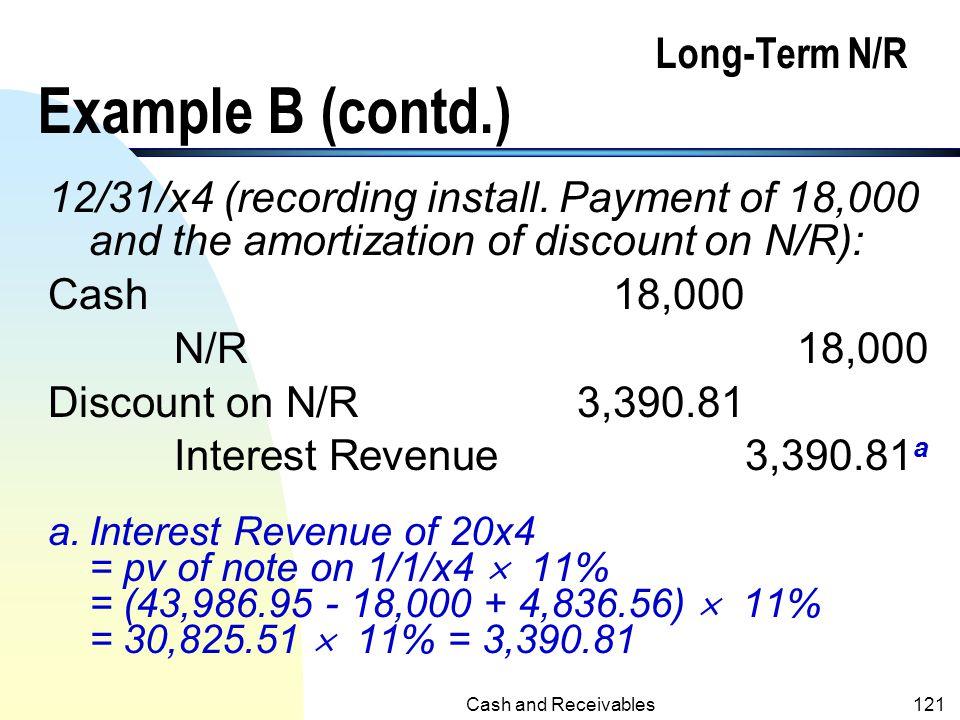 Long-Term N/R Example B (contd.)