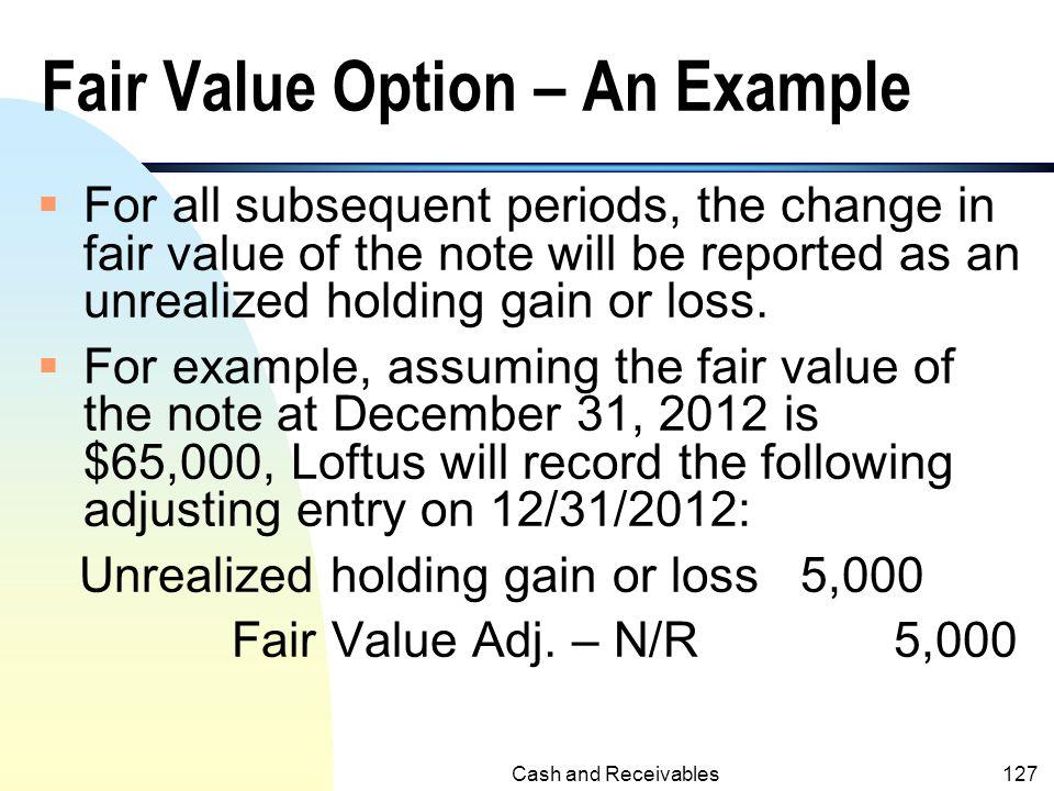 Fair Value Option – An Example