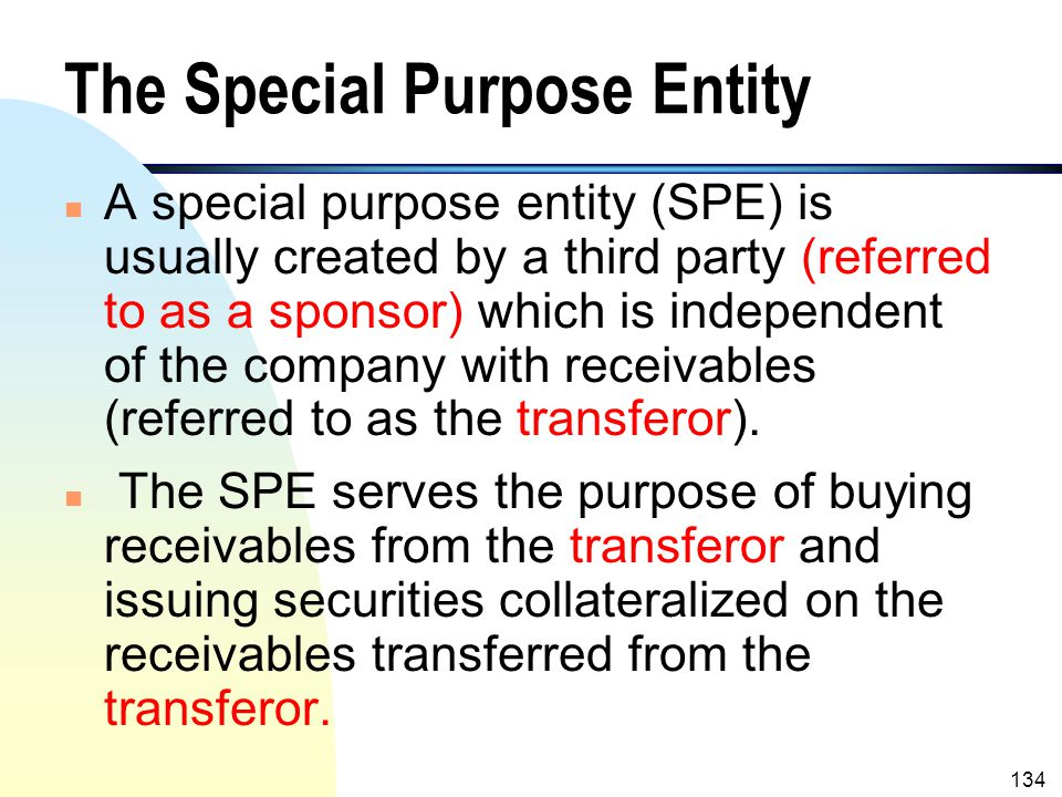 The Special Purpose Entity