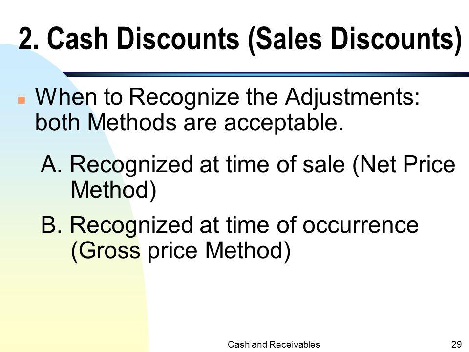 2. Cash Discounts (Sales Discounts)
