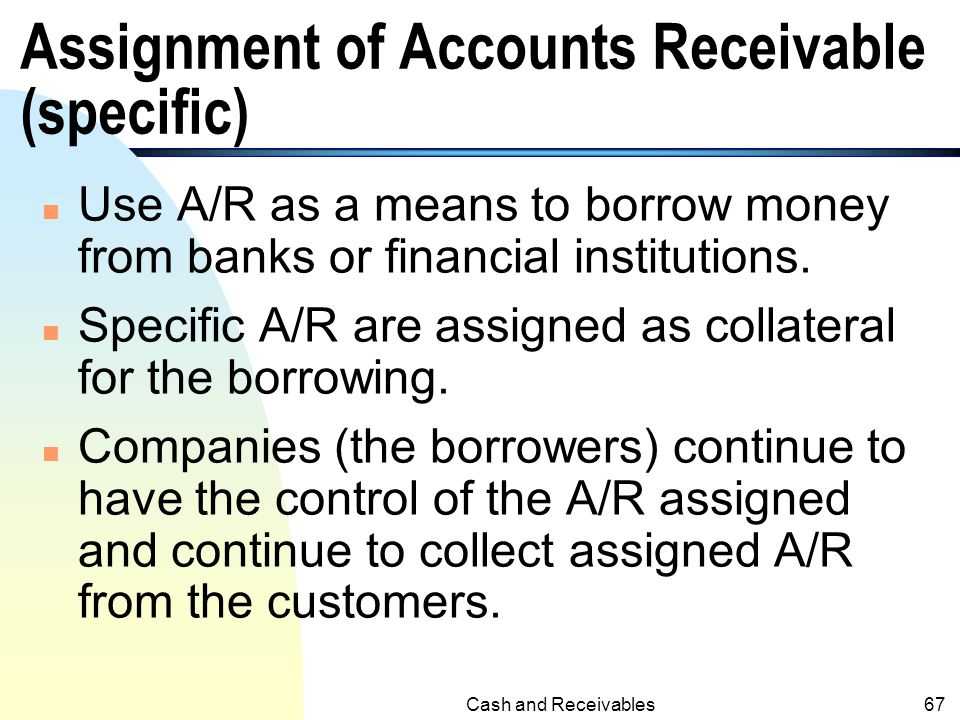 Assignment of Accounts Receivable (specific)