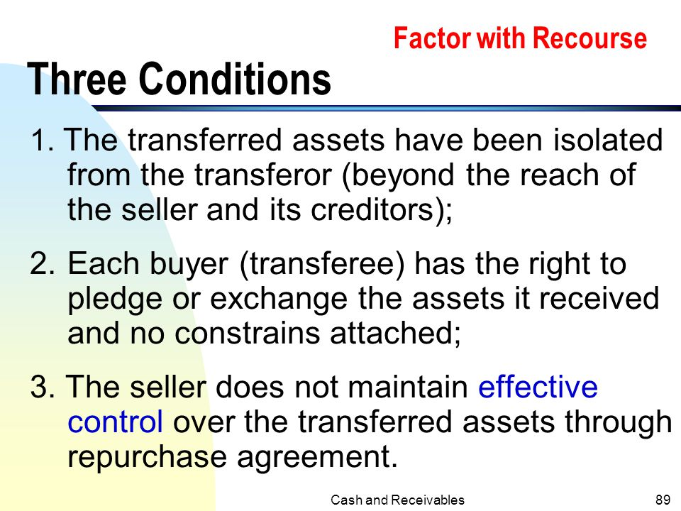Factor with Recourse Three Conditions