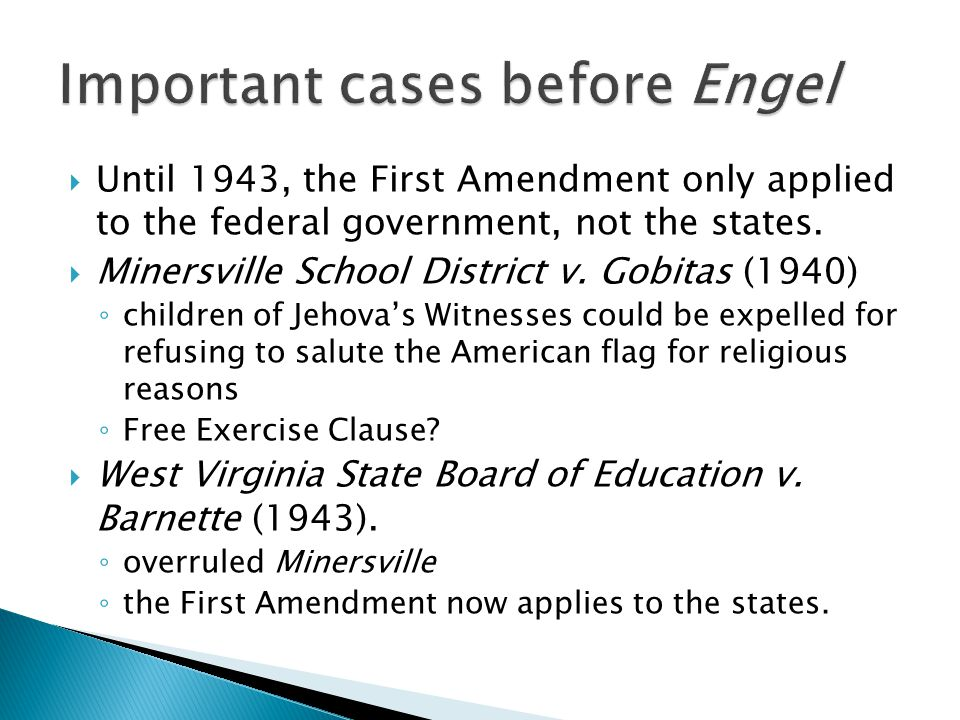 Important cases before Engel