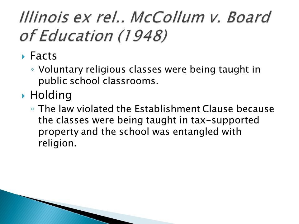 Illinois ex rel.. McCollum v. Board of Education (1948)