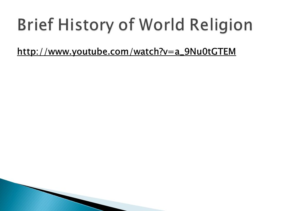 Brief History of World Religion
