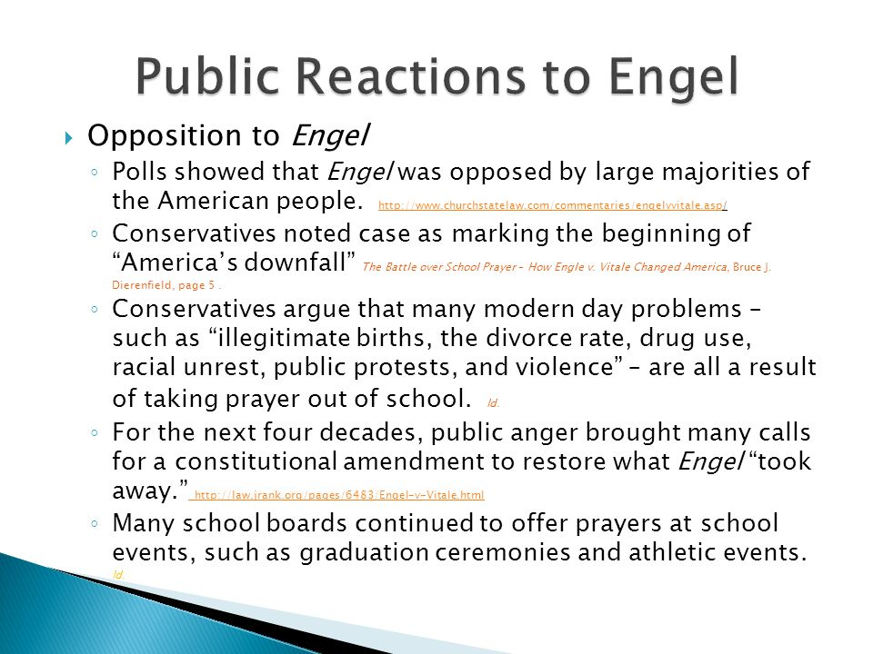 Public Reactions to Engel