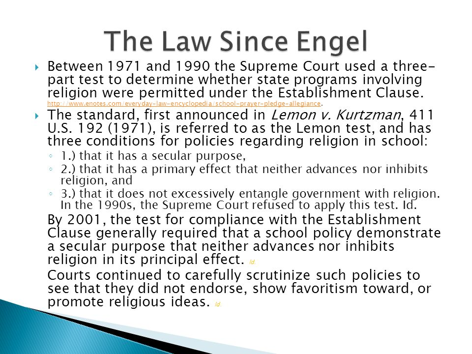 The Law Since Engel