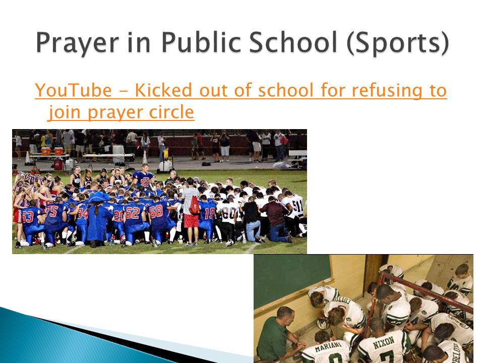 Prayer in Public School (Sports)