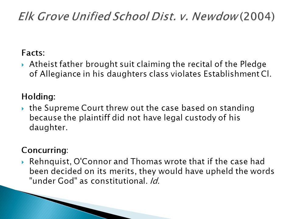 Elk Grove Unified School Dist. v. Newdow (2004)
