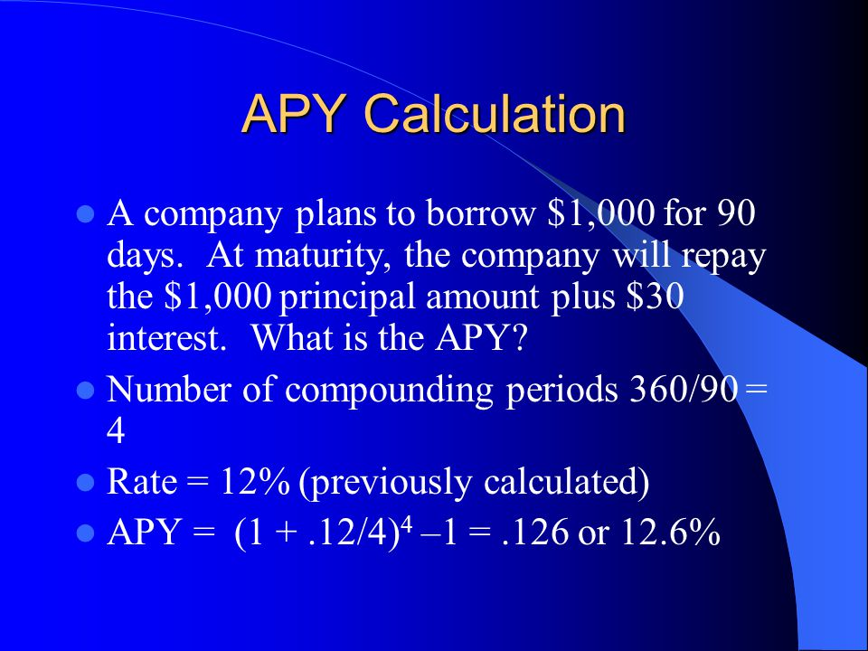 APY Calculation