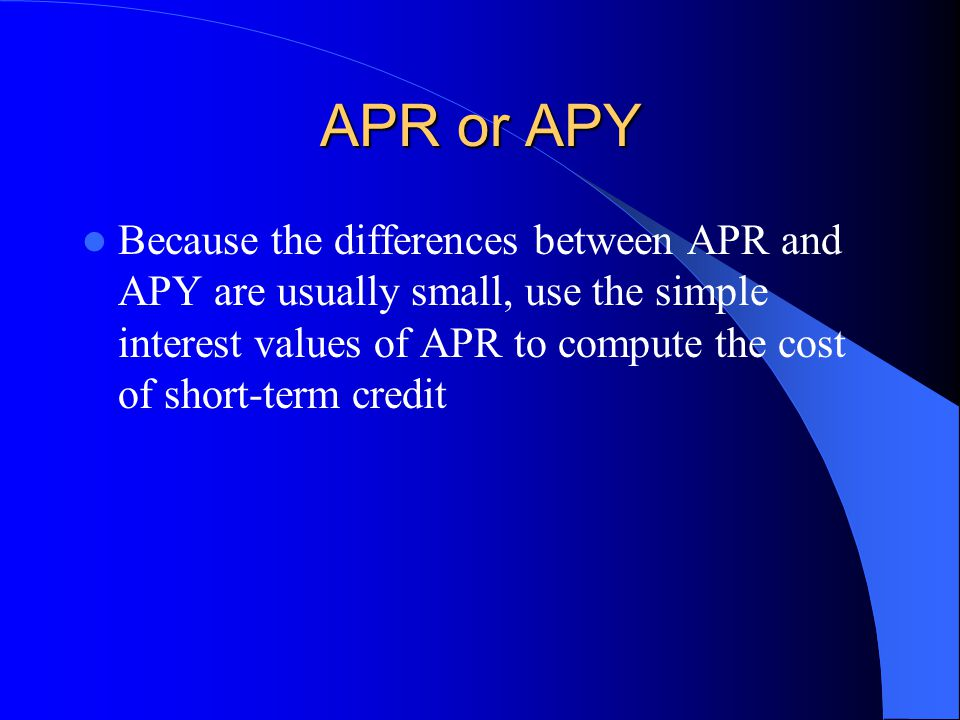 APR or APY