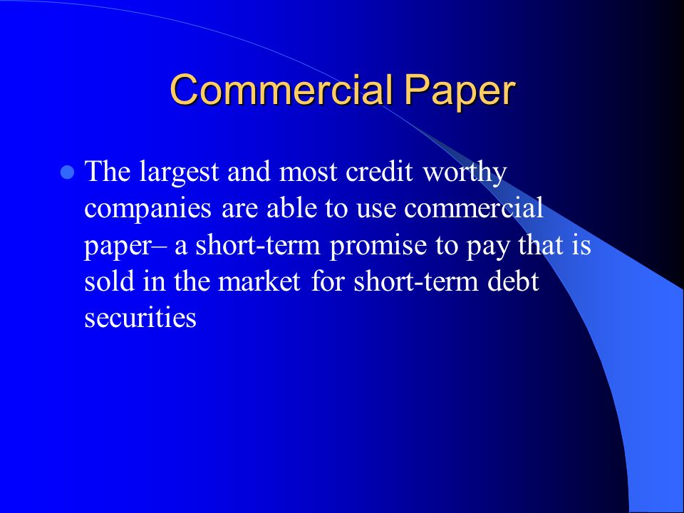 commercial document small time period loan