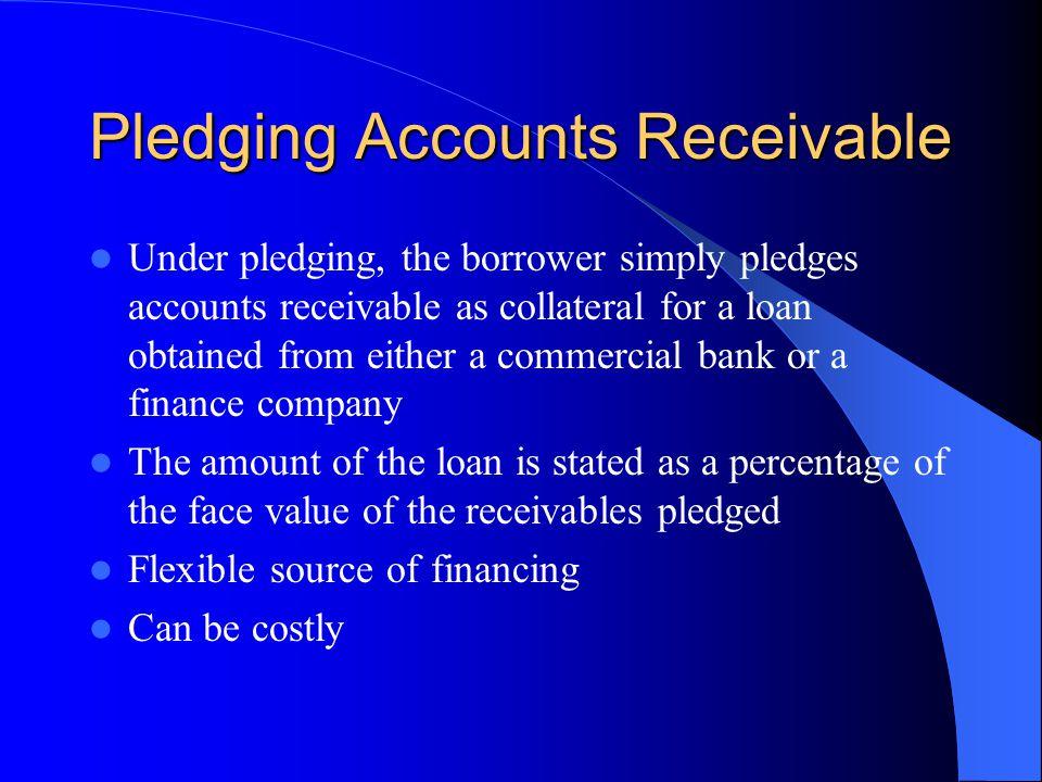 Pledging Accounts Receivable