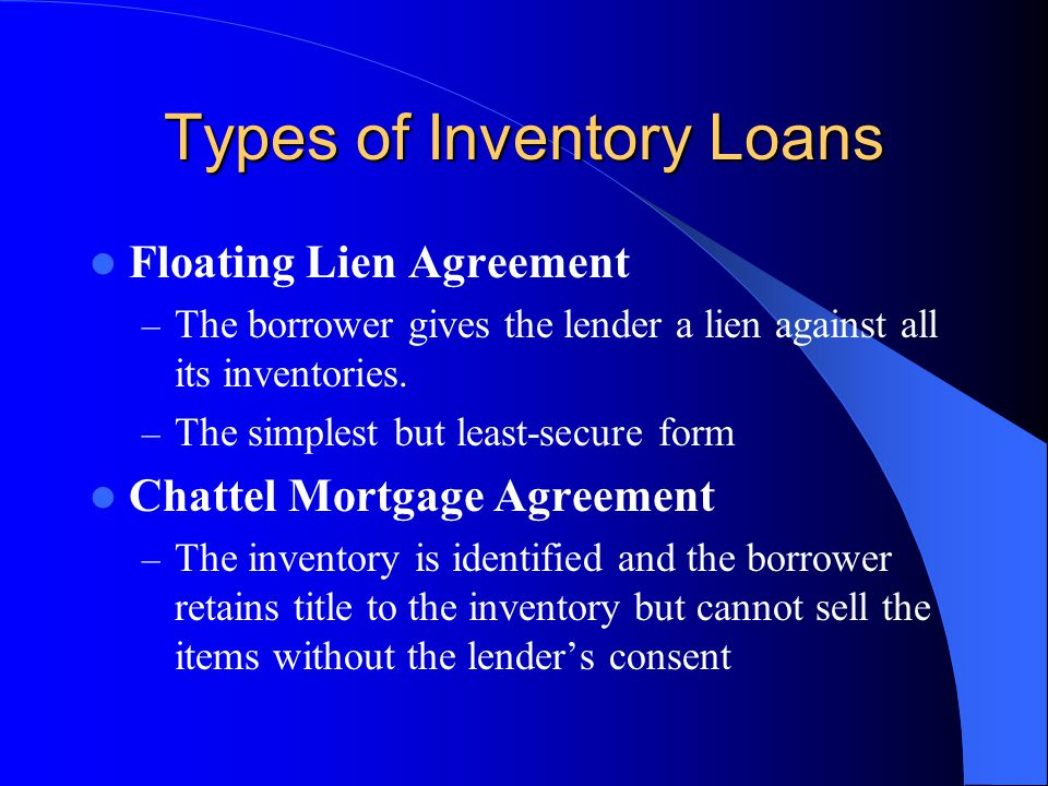 Types of Inventory Loans