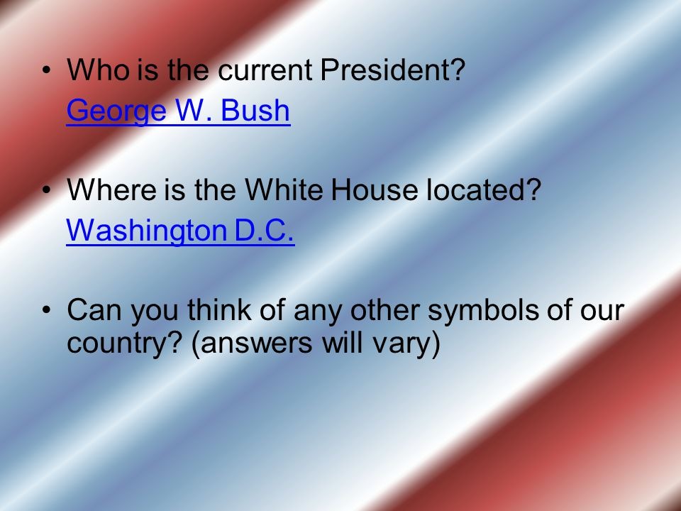 Who is the current President