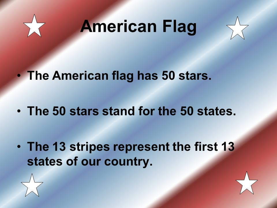 American Flag The American flag has 50 stars.