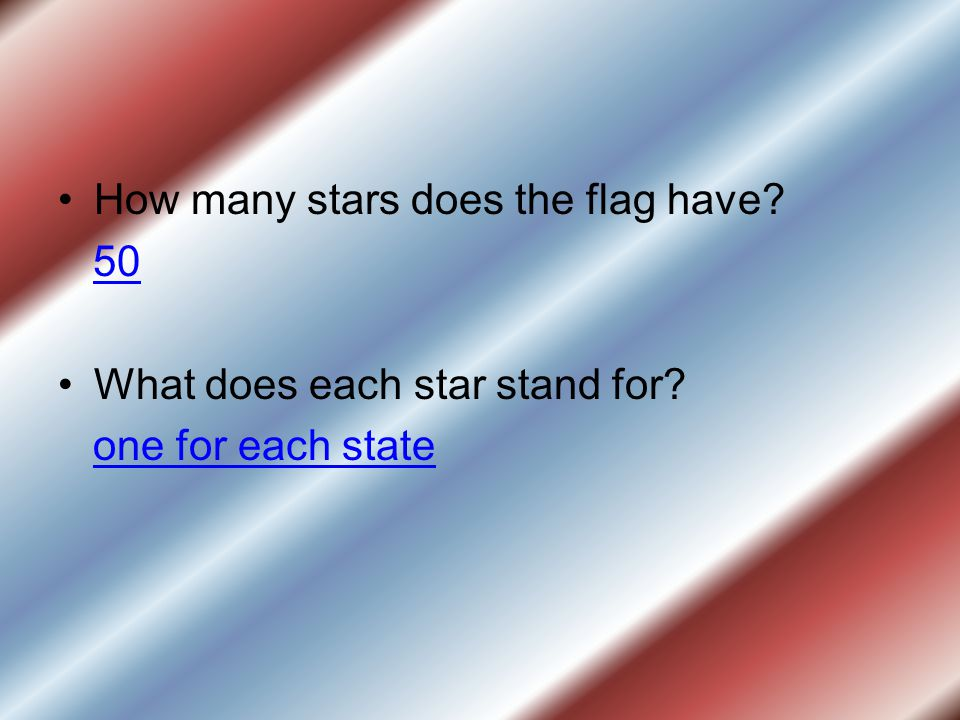 How many stars does the flag have