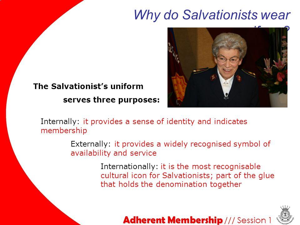 Why do Salvationists wear uniform
