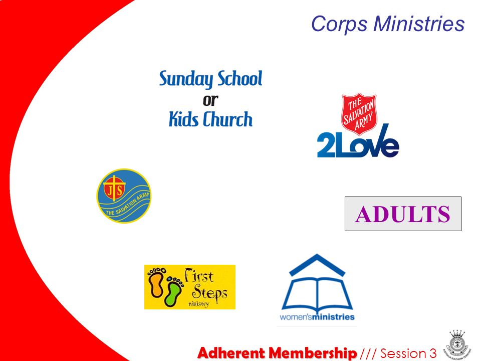 Corps Ministries ADULTS Adherent Membership /// Session 3