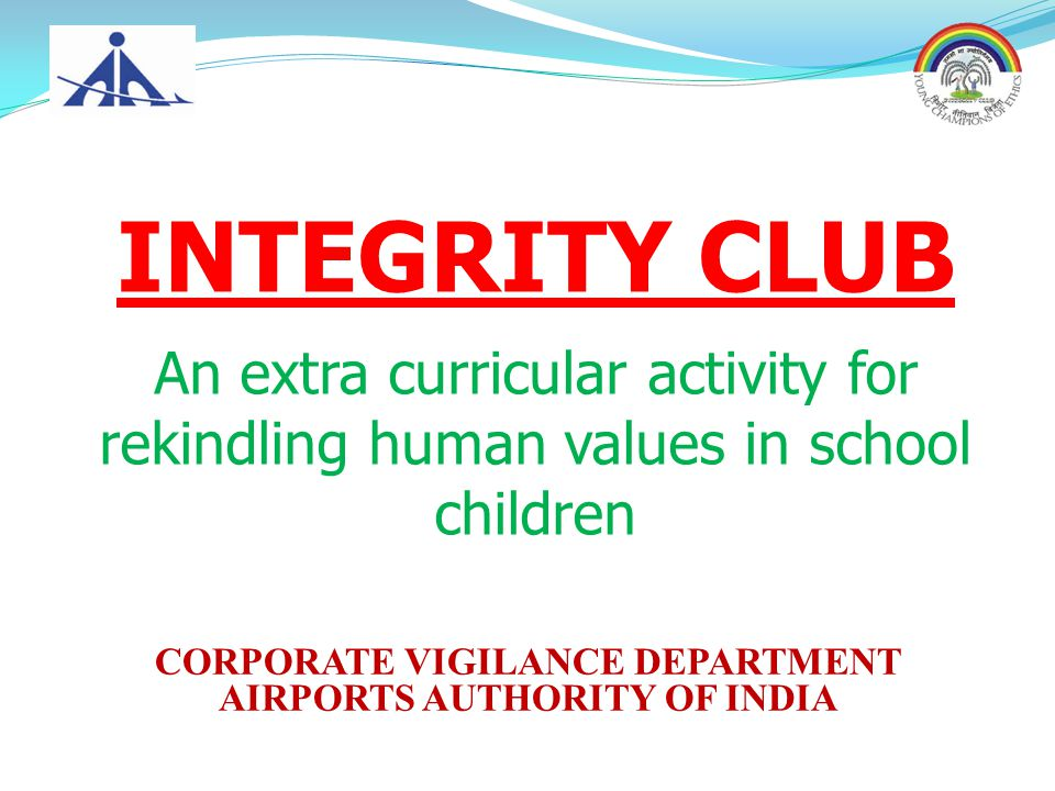 CORPORATE VIGILANCE DEPARTMENT AIRPORTS AUTHORITY OF INDIA
