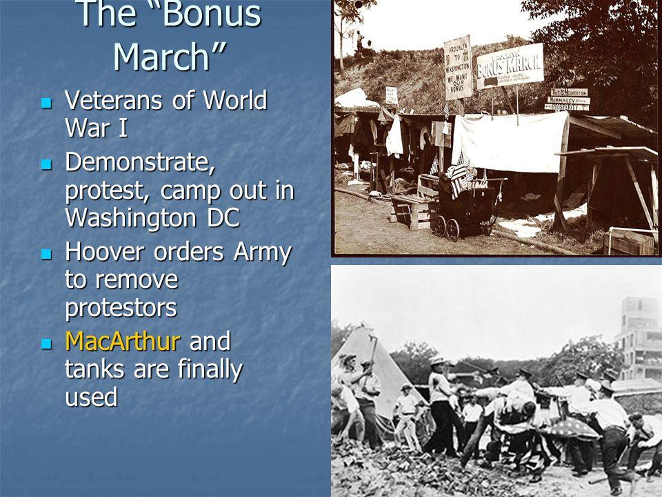The Bonus March Veterans of World War I