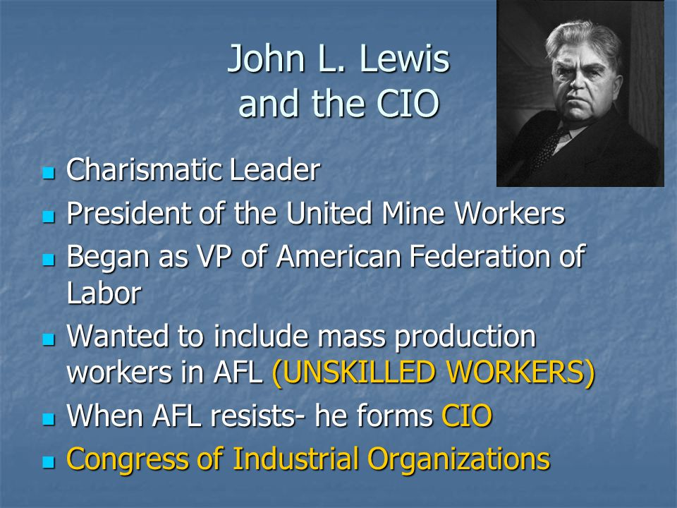John L. Lewis and the CIO Charismatic Leader