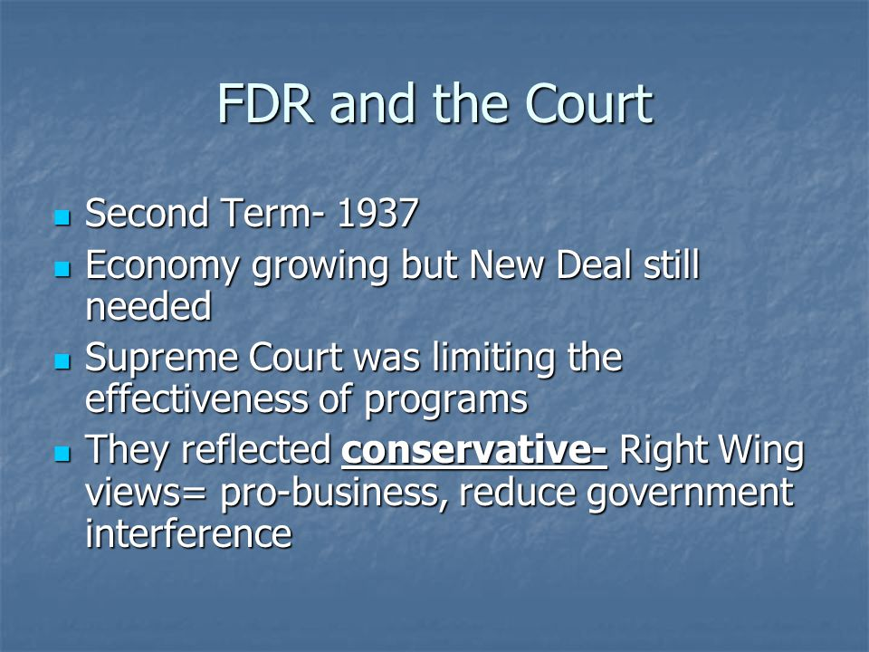 FDR and the Court Second Term- 1937