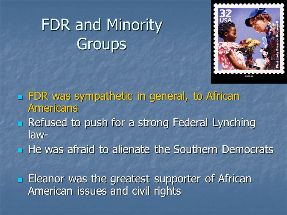 FDR and Minority Groups