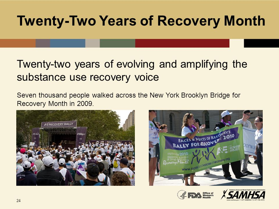 Twenty-Two Years of Recovery Month