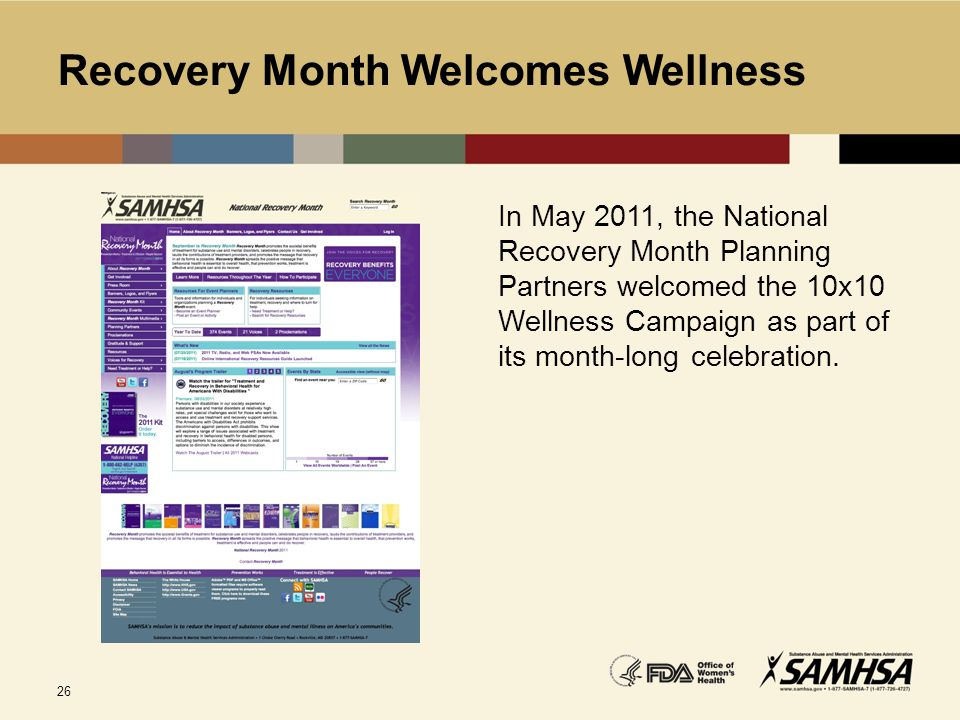 Recovery Month Welcomes Wellness