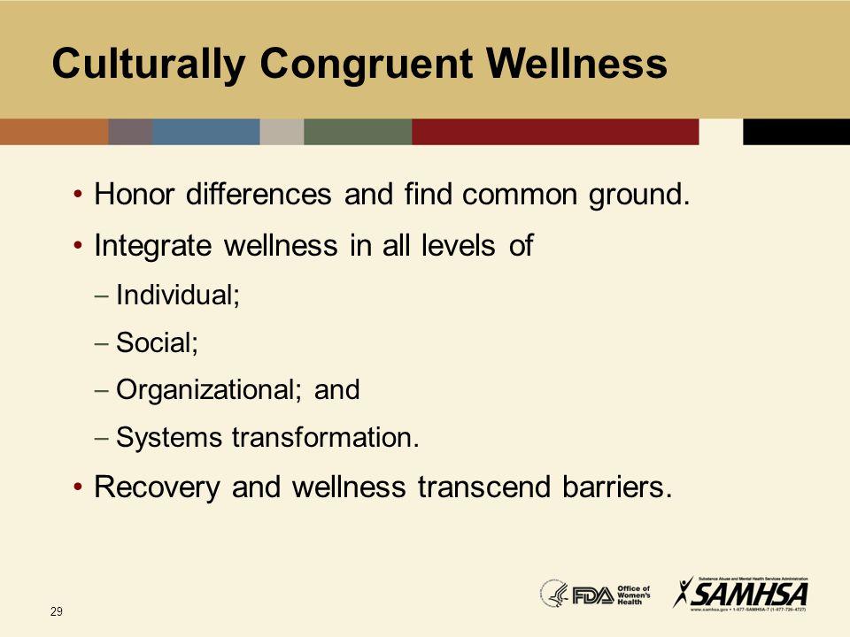 Culturally Congruent Wellness