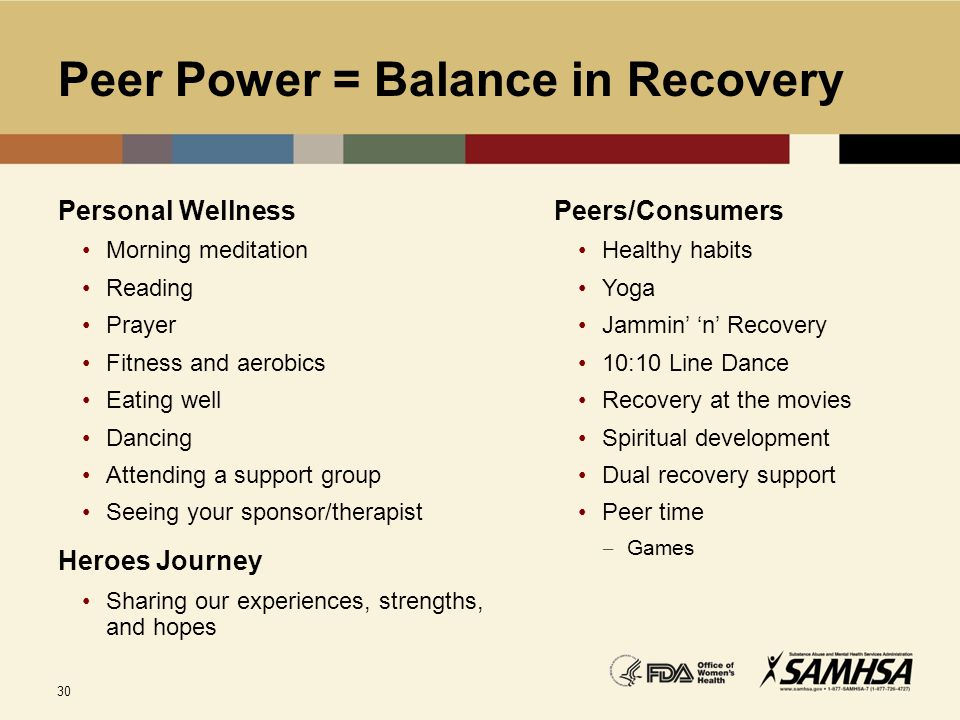 Peer Power = Balance in Recovery