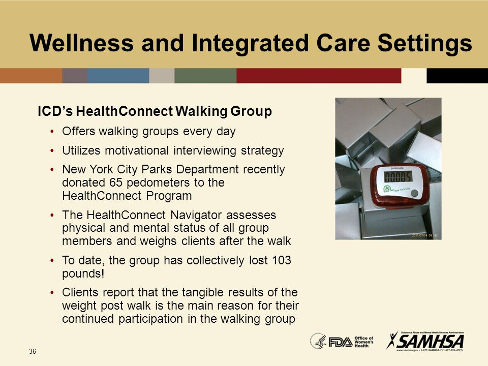 Wellness and Integrated Care Settings