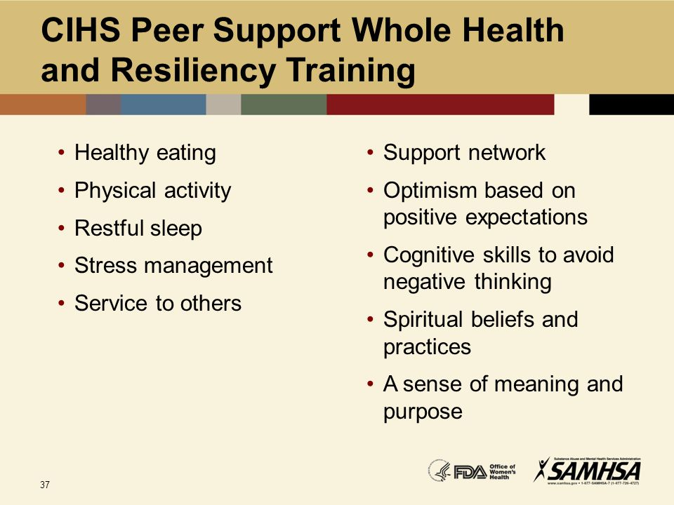 CIHS Peer Support Whole Health and Resiliency Training