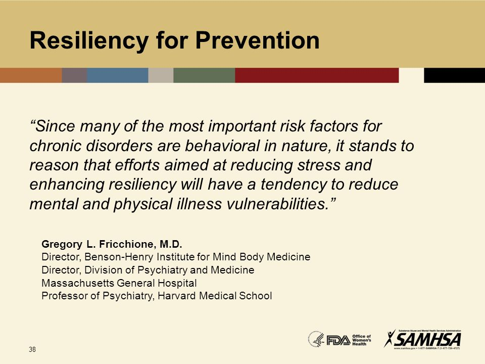 Resiliency for Prevention
