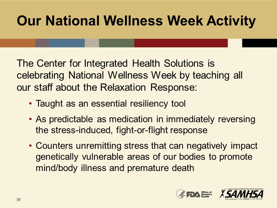 Our National Wellness Week Activity